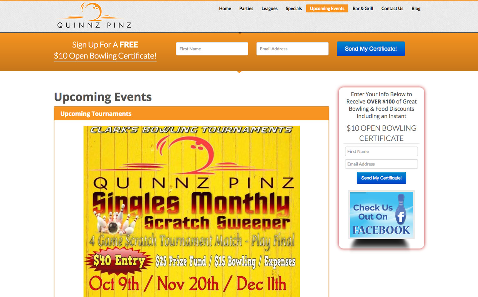 Bowling Certificate Template Free